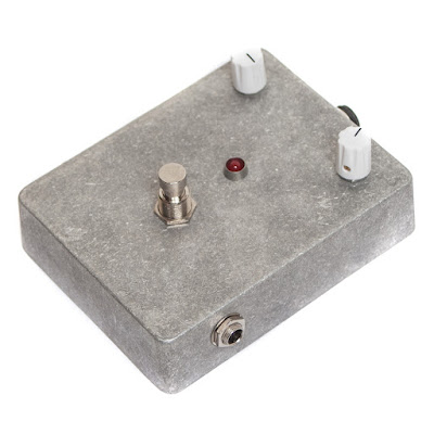 DIY guitar pedal bare aluminum