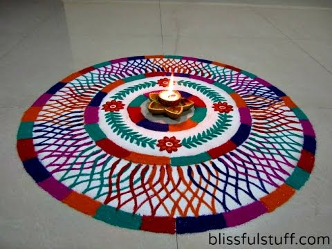 Unique Multicolored Rangoli Design How to draw colorful rangoli Diwali Special deepawali Rangoli Designs Photos
