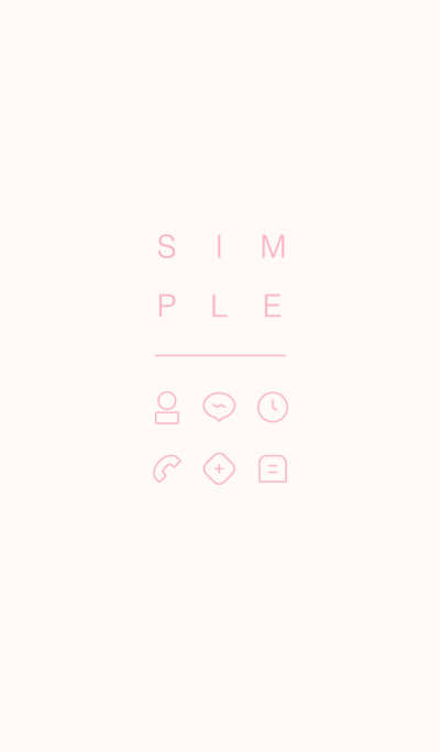 SIMPLE / ivory-pink.