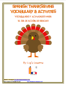 liz 39 s lessons french and spanish thanksgiving themed vocabulary activities. Black Bedroom Furniture Sets. Home Design Ideas