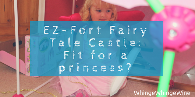 The EZ Fort Fairy Tale Castle pink construction toy: Fit for a princess?