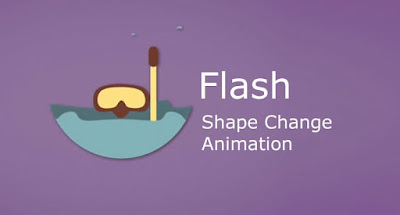 Flash Shape Change Animation