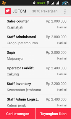 Jofom, Aplikasi Lowongan Kerja Lulusan SMK/ SMA
