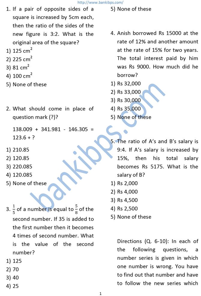 IDBI Bank Aptitude Questions