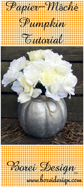 how to make paper mache pumpkin tutorial diy fall halloween thanksgiving crafts