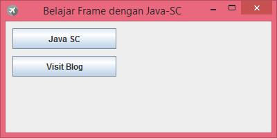 Gambar 1 - jButton Pada Komponen Swing Di Java