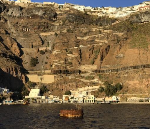 Image result for Santorini zig-zag path