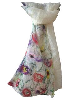 Wildflower scarf handmade by Mimi Pinto