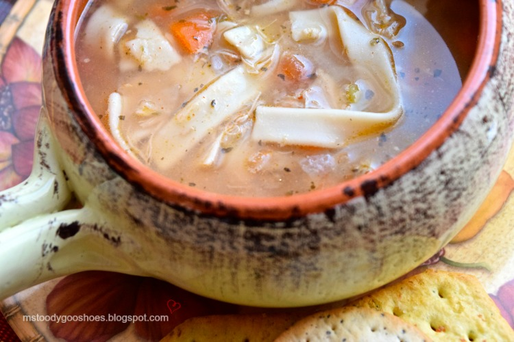 Turkey Noodle Soup: A delicious way to use up leftover turkey! | Ms. Toody Goo Shoes