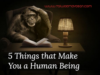 5 things that make you a human being.