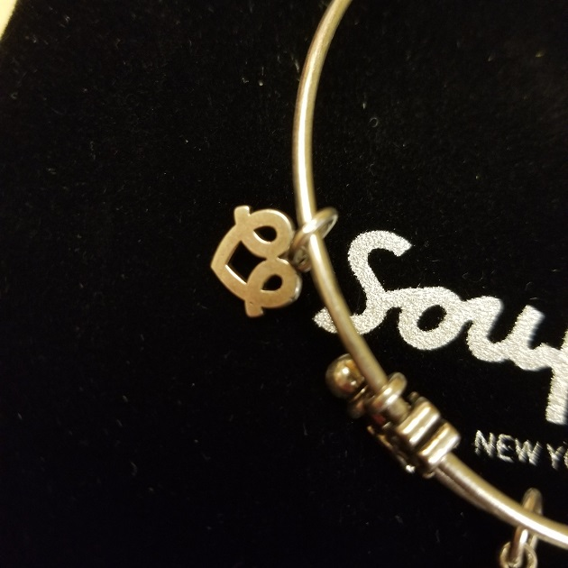 Soufeel Four Leaf Clover Charm Bangle Bracelet