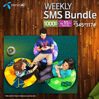 New Telenor Weekly SMS Bundle for 1000 SMS Weekly