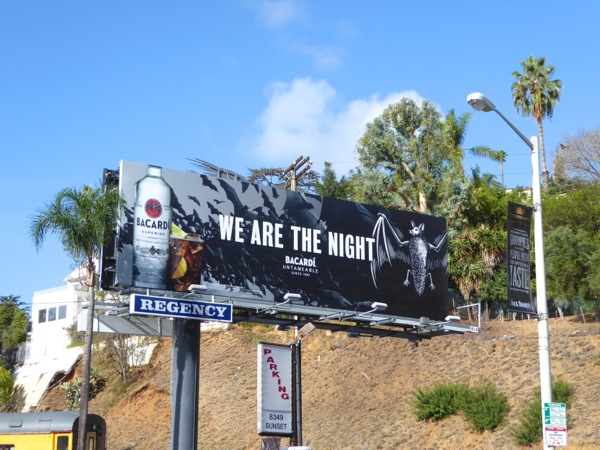 Bacardi We are the night bats billboard