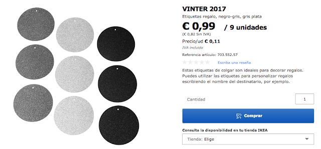 Etiquetas Vinter Ikea