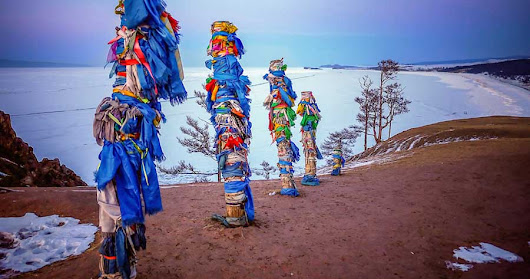 Buryat Shamanic Prayer Poles