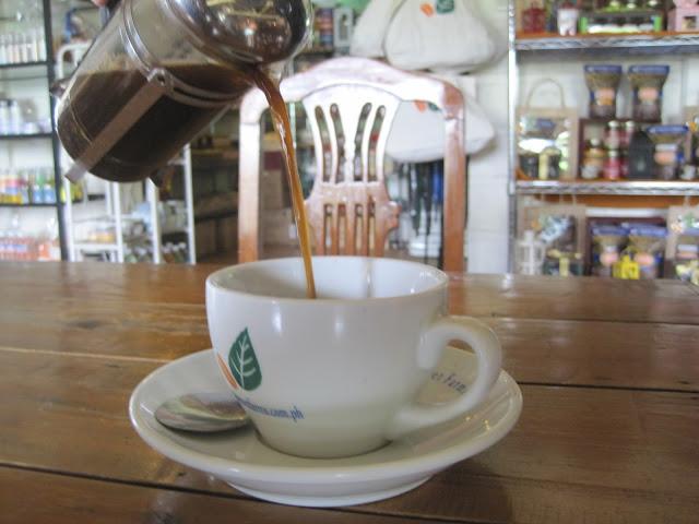 タガイタイのコーヒーショップにて