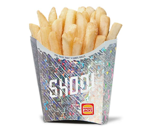 this burger king fry box is shiny for the oddest reason