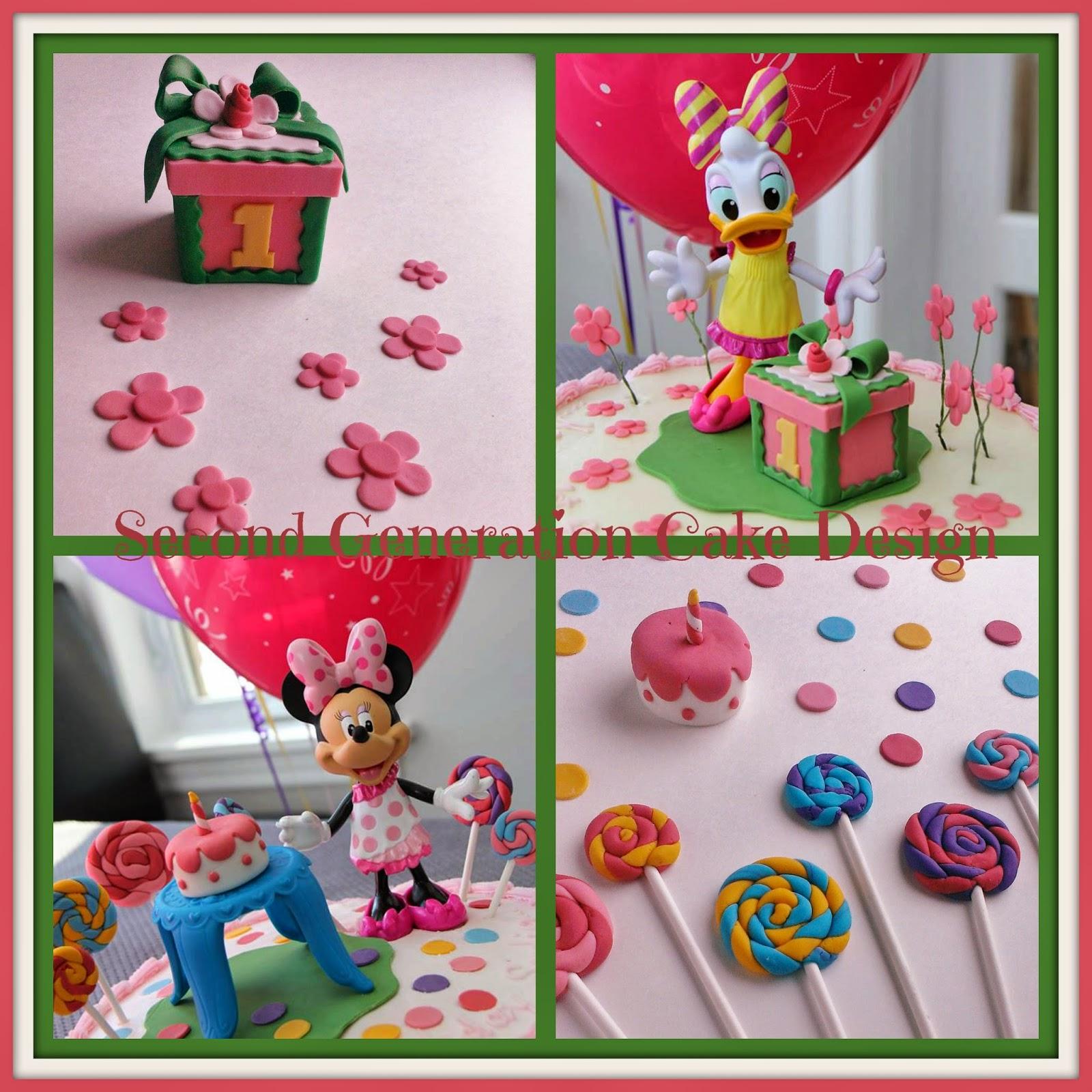 Second Generation Cake Design: Minnie and Daisy Cake ...