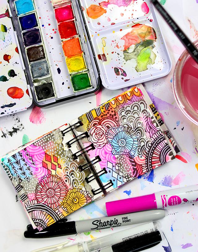 alisaburke: a peek inside my mini art journal