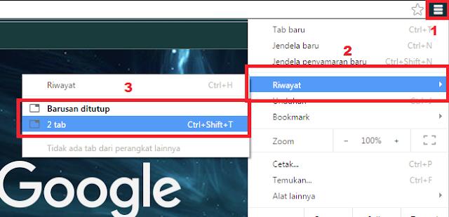 Cara Mengembalikan Semua Tab Pada Google Chrome Yang Sudah Ditutup/Diclose