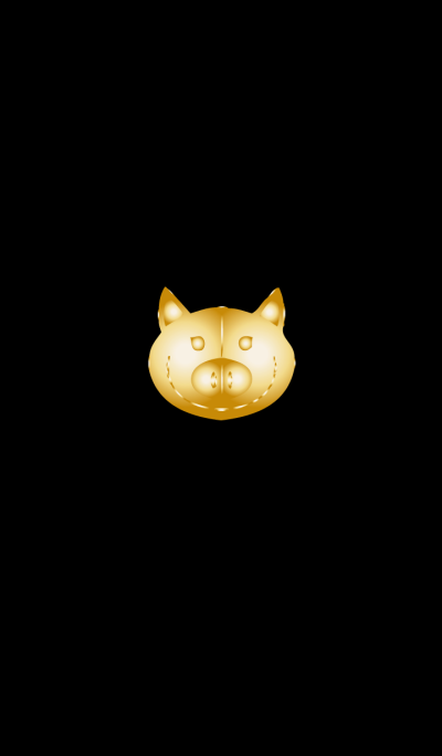 Simple gold pig