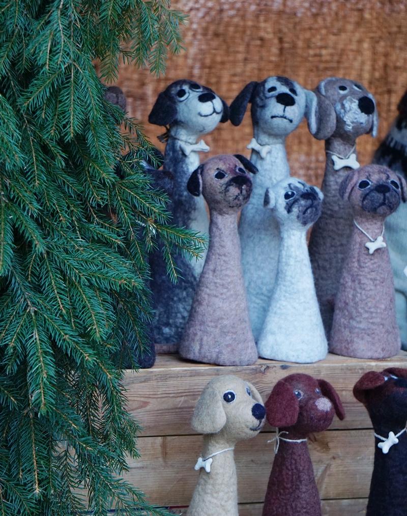 lohja, joulumarkkinat, huovutetut eläimet