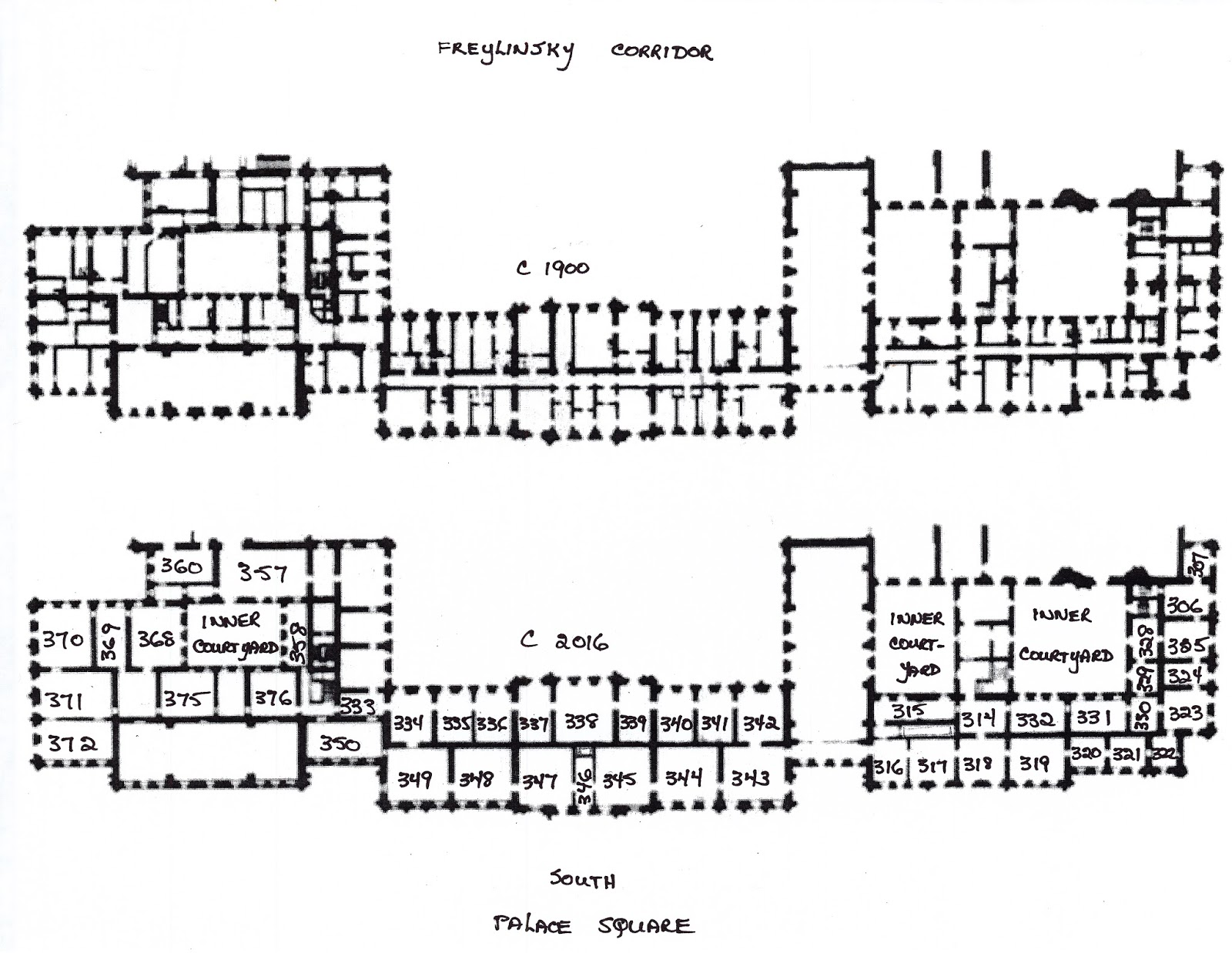 Winter palace research plan c1900 of the freylinsky for Palace plan