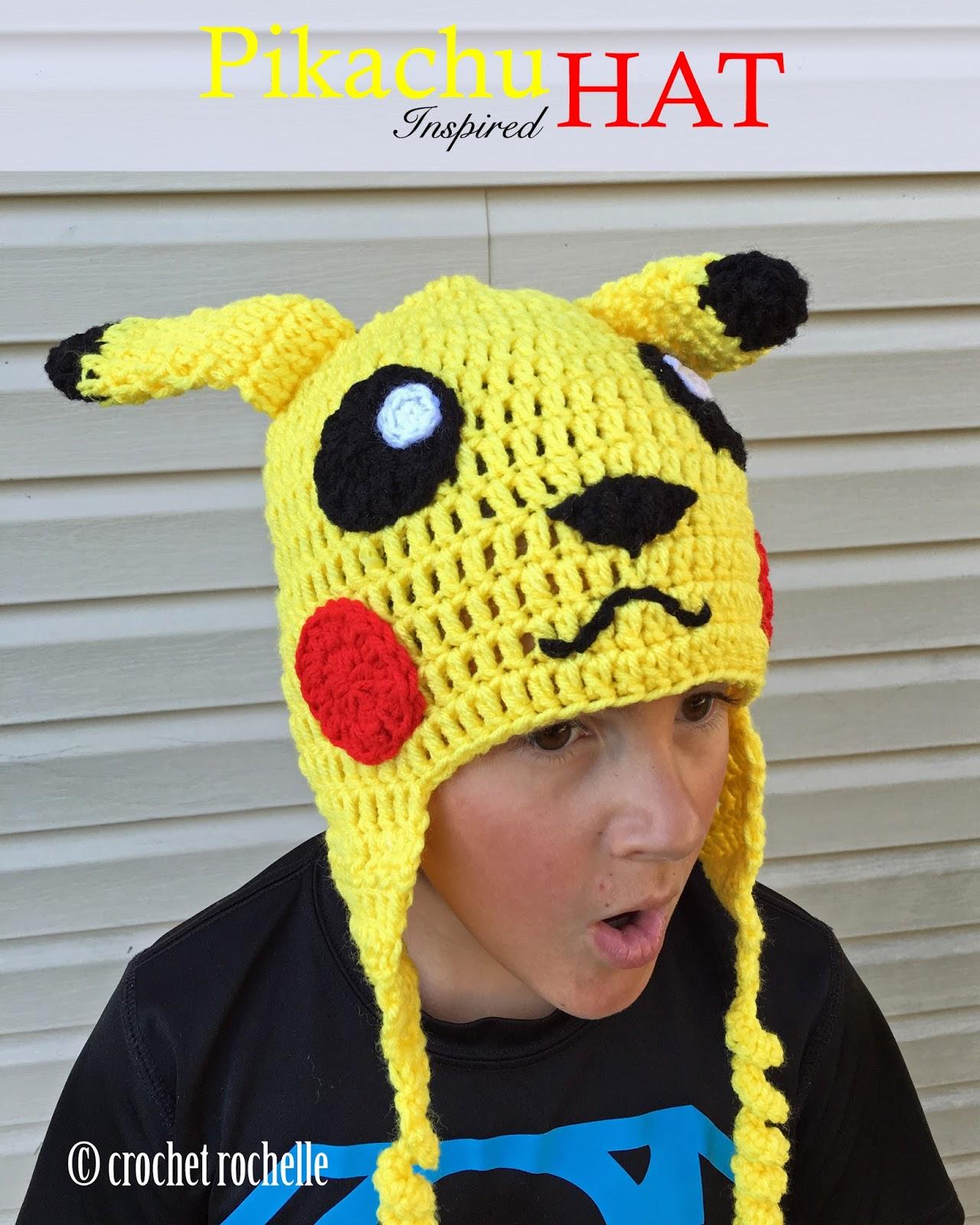 444a1f8cc Crochet Rochelle: Pikachu Inspired Hat Pattern