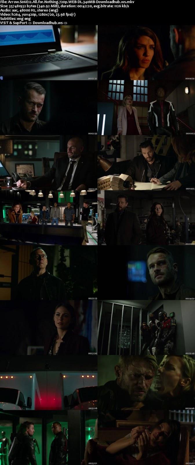 Arrow S06E13 340MB Web-DL 720p ESubs