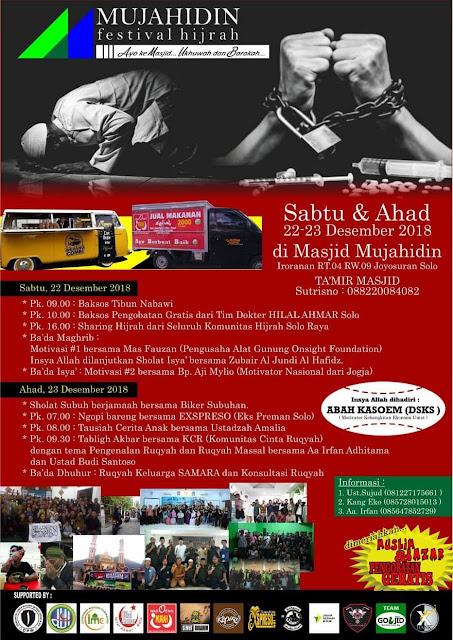 Festival Hijrah Mujahidin Digelar 22 Desember 2018 di Solo