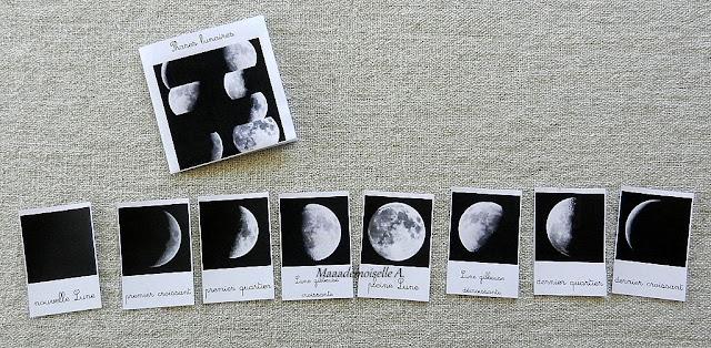 || Nos activités sur la Lune - Cartes de nomenclature