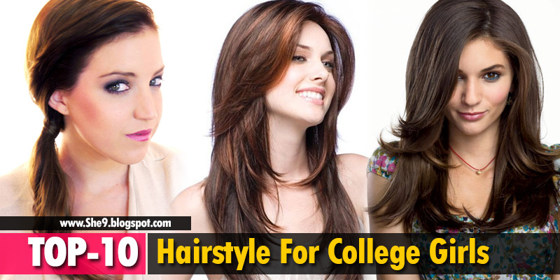 Top 10 Hairstyles For College Girls Easy Hairstyles For School
