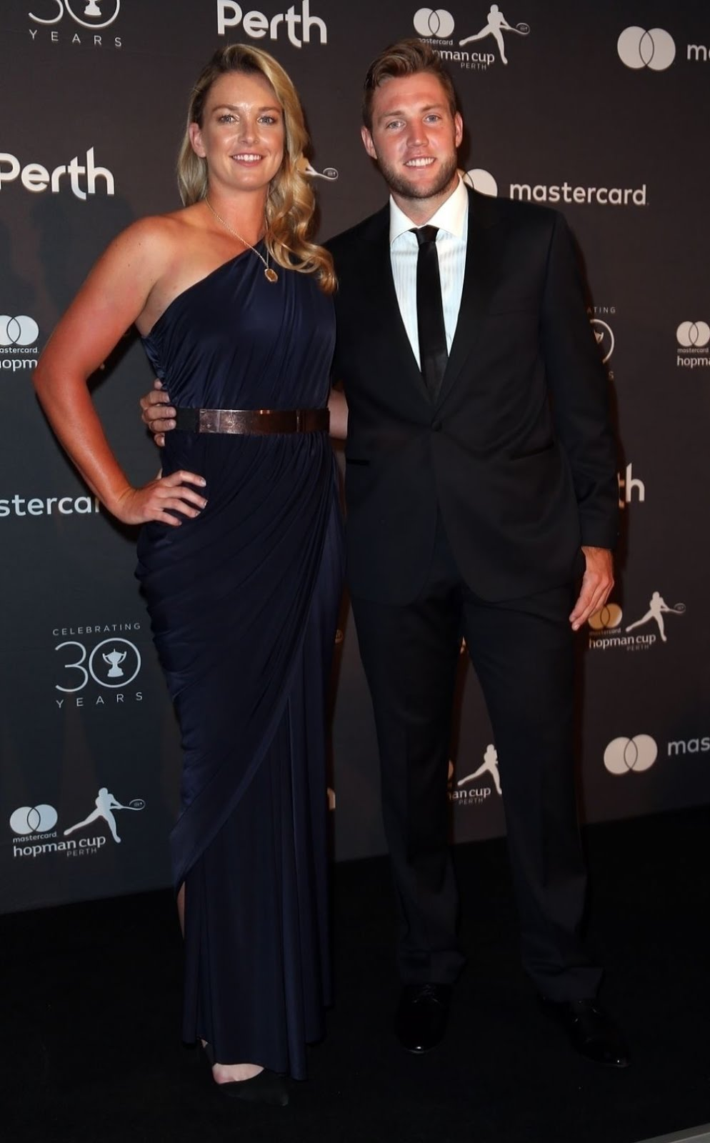 HD Photos of Coco Vandeweghe And Jack Sock At Hopman Cup New Years Eve Players Ball In Perth