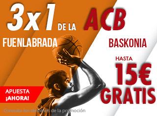 suertia promocion ACB Fuenlabrada vs Baskonia 14 octubre