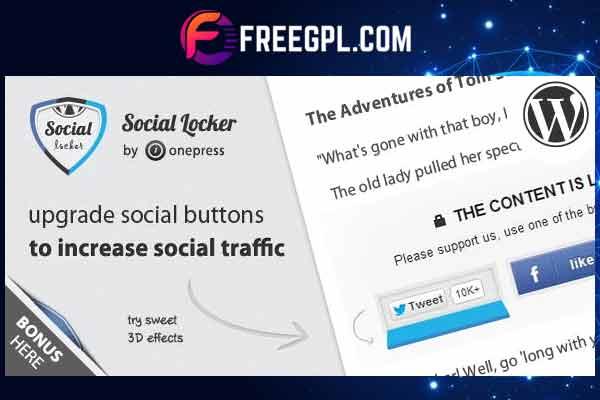 Social Locker for WordPress Free Download