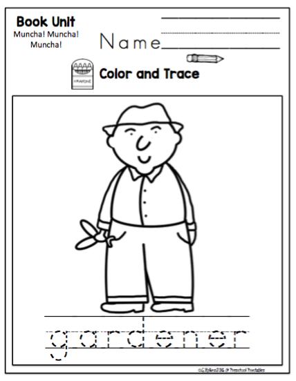 Muncha! Muncha! Muncha! Book Unit ~ Preschool Printables