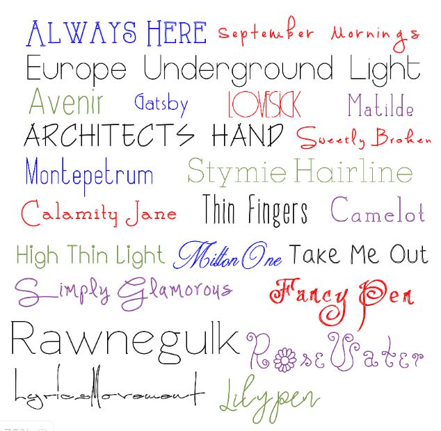 writing fonts The handwriting of kurt cobain, david bowie, john lennon and other rock stars  have been turned into fonts.