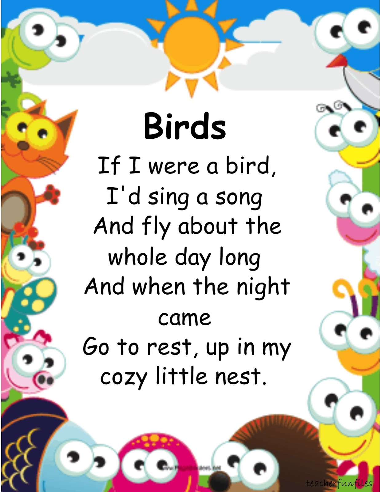 Teacher Fun Files Animal Nursery Rhymes