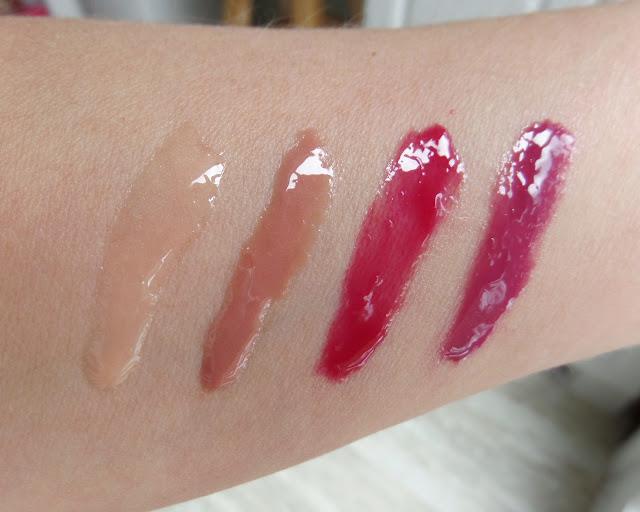 zoya Kissmas Hot Lips Gloss Quad Fame, Flirt, Purr and Marachino swatch
