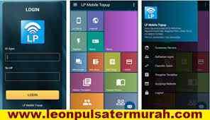 Cara Login Aplikasi Android LP Mobile Topup Leon Pulsa