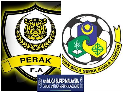 Live Streaming Perak vs Kuala Lumpur Liga Super 29 April 2018