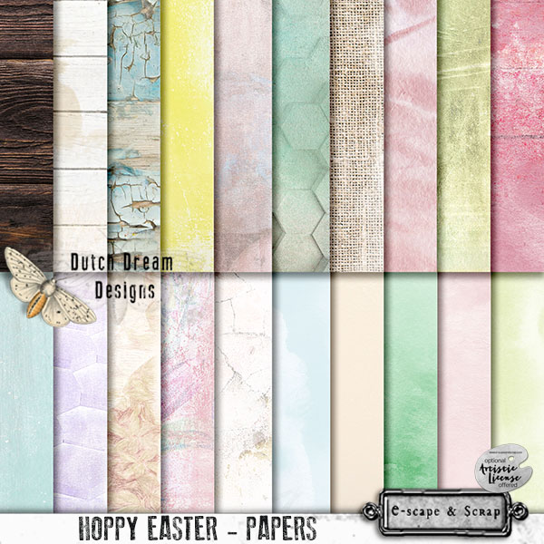 DUTCH DREAM DESIGNS HOPPY EASTER PAPERS