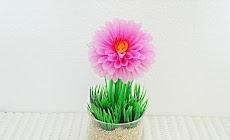 Cara Membuat Bunga Dahlia dari Sedotan