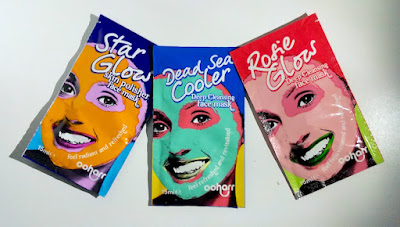 Ooharr face masks - Star Glow, Dead Sea Cooler and Rosie Glow