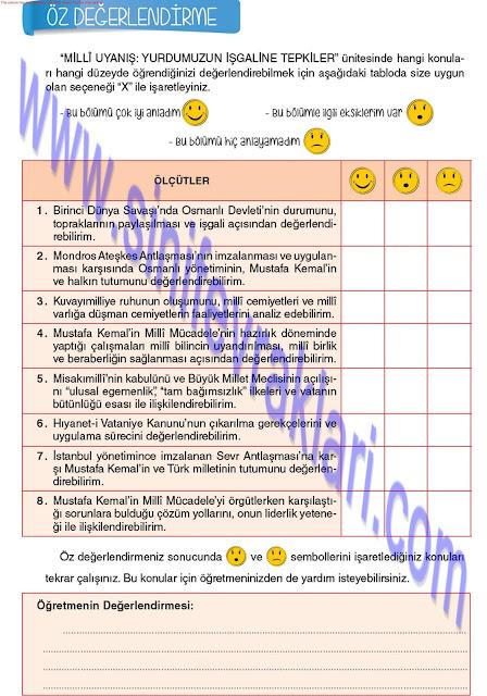 8. Sınıf Top Yayınları İnkılap Tarihi Çalışma Kitabı Cevapları Sayfa 32