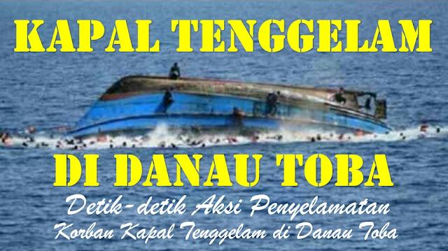 ALAMAK! Kapal Kayu Tenggelam di Danau Toba, Beberapa Orang Diselamatkan