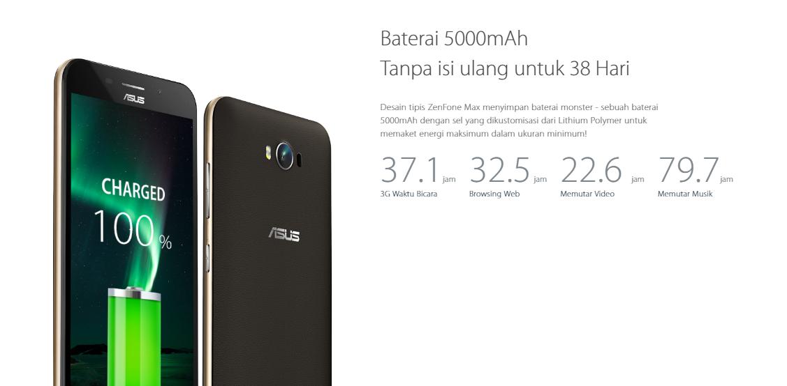 Spesifikasi Asus Zenfone Max dengan Baterai 5.000 mAh dan layar 5,5 inci