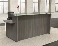 Modern Gray Reception Desk