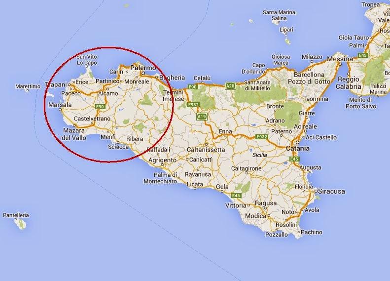 Cartina Turistica Sicilia Occidentale.The Pink Candy Travel Experience Frammenti Di Occidente Siciliano 1