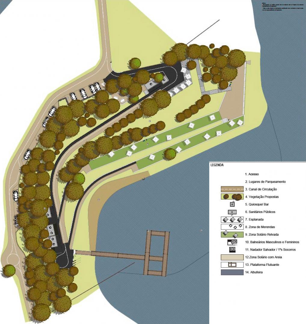 Projeto para a praia fluvial barragem de Odeleite